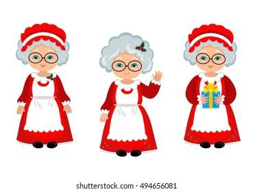 Happy Mrs. Claus. Raster copy.