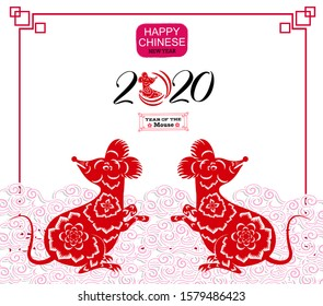 Happy New Chinese Year 2020 year of the Rat - year of the mouse