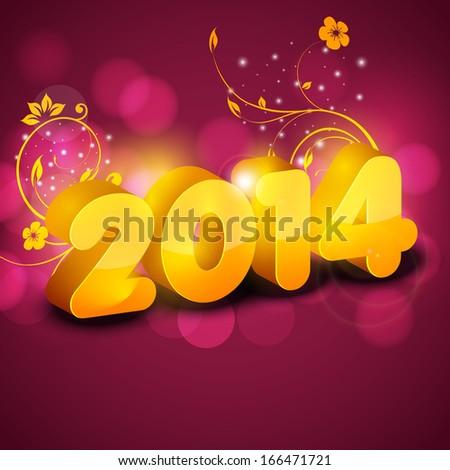 royalty free stock illustration of happy new year 2014 celebration