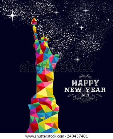 Happy New Year 2015 Greeting Card Stock Illustration Royalty Free