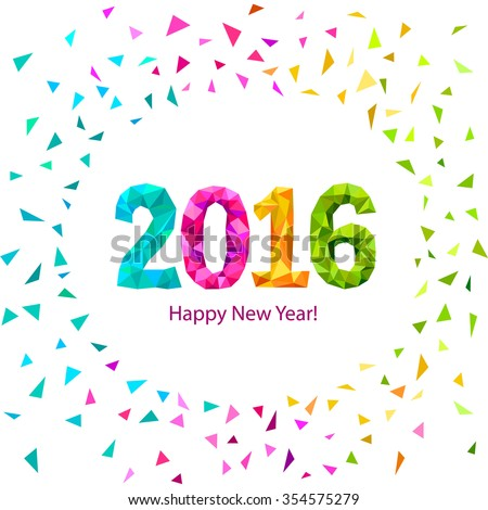 Happy New Year 2016 Greeting Card Stock Illustration 354575279 ...