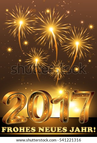 happy new year 2017 german language frohes neues jahr elegant