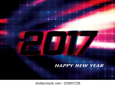 happy new year 2017 red dark black background templatehappy new year 2017 background