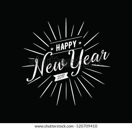 Happy New Year 2017 Text Design Stock Illustration 520709410