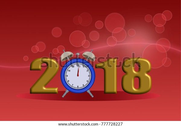 Happy New Year 2018 Wallpaper 3d Stock Illustration 777728227