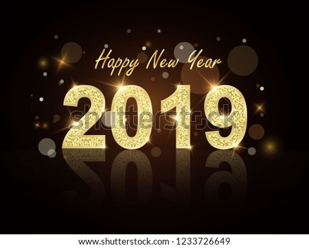 Royalty Free Stock Illustration Of Happy New Year 2019 Christmas Hd