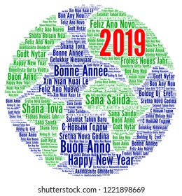 Happy New Year 2019 in different languages