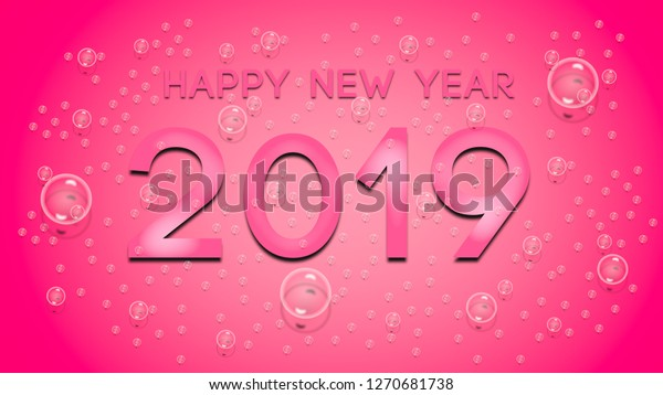 Happy New Year 2019 Wallpaper Background Stock Illustration