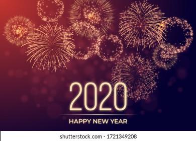 Happy New Year 2020 year celebration