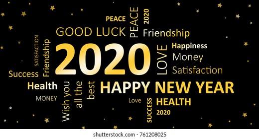 Grußkarte 2020 für das neue Jahr
