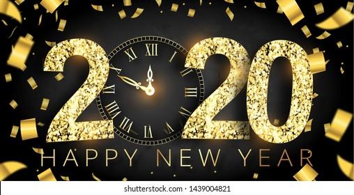 Happy new Year 2020 Illustration