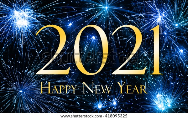 Happy New Year 2021 ภาพประกอบสต็อก 418095325