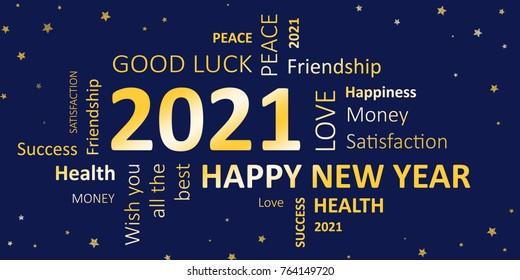 happy new year 2021 card