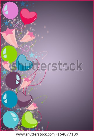 happy new year or birthday party background with space