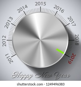 Happy New Year button 2019