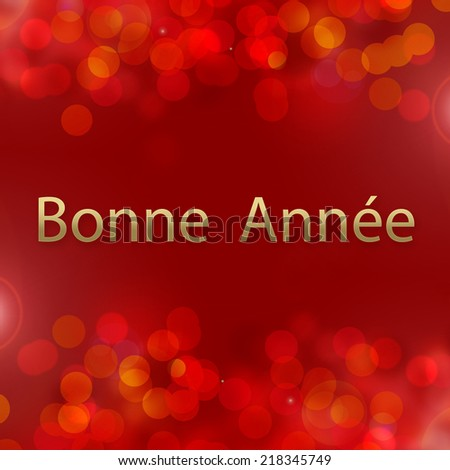 happy new year card text in french