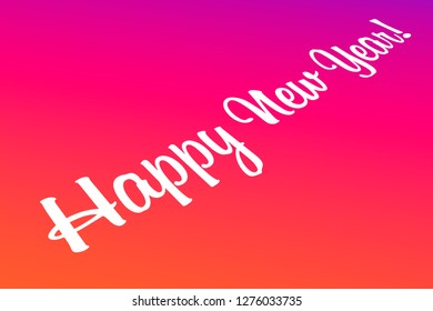 Happy New Year, Concept Image for Online Sharing, Perspective View, Social Media, 3d Illustration