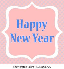 Happy new year greeting.