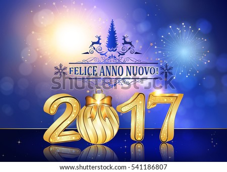 happy new year italian language felice anno nuovo background greeting