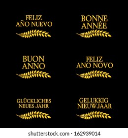 Happy New Year Laurels in Different Languages 4