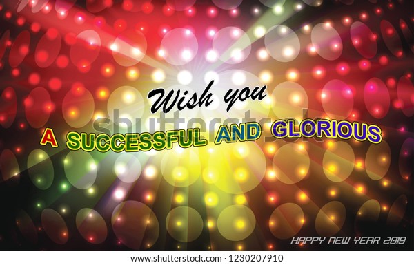 happy new year motivational quotes stock illustration