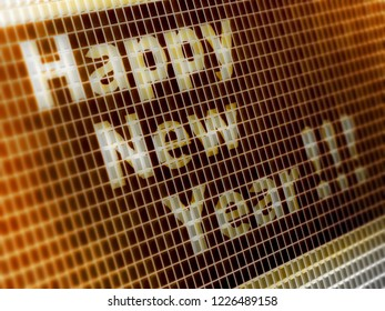 """""""Happy New Year!!!"""" in the screen. 3D Illustration."""