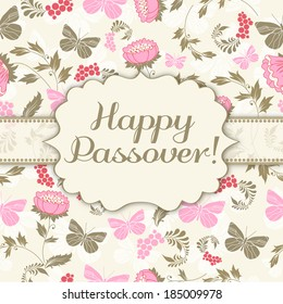 Happy passover holiday greeting card design.