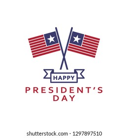 Happy President's day 2 colored icon. Simple blue and red element illustration. Happy President's day concept symbol design from USA election set