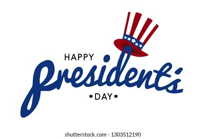 Happy President's day design background with uncle Sam hat