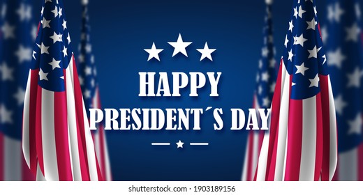 Happy Presidents Day Greeting Background