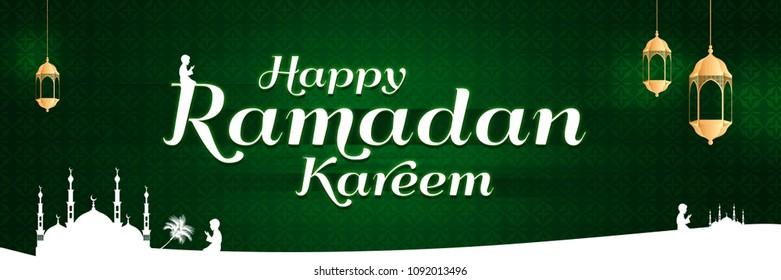 happy ramadan kareem conceptual social banner