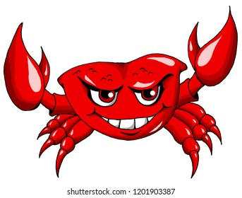 Happy Red Colored Lobster going about his business