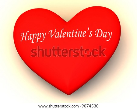 Happy Valentines Day 3 D Stock Illustration 9074530 Shutterstock