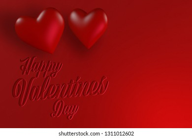 Happy valentines day card design with love hearts and copy space for text