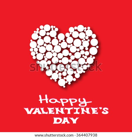 Happy Valentines Day Card Template Small Stock Illustration