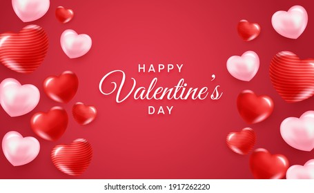 Happy Valentines Day Illustration and Design