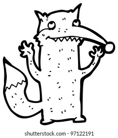 cat raising fists cartoon stock illustration 94824292 shutterstock Cat BA happy wolf cartoon