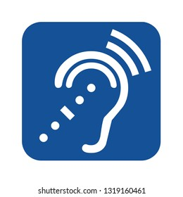 Hard of hearing pictogram