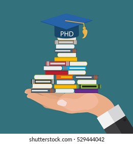 Hard and Long Way to the Doctor of Philosophy Degree PHD  Illustration