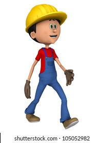 hard worker walking