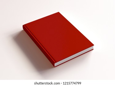 Hardcover Book Mock-Up on white background. 3d rendering.