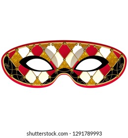Harlequin party mask