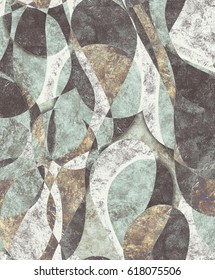 Harlequin turquoise pattern