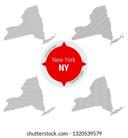 New York State Map Simple Images Stock Photos Vectors Shutterstock