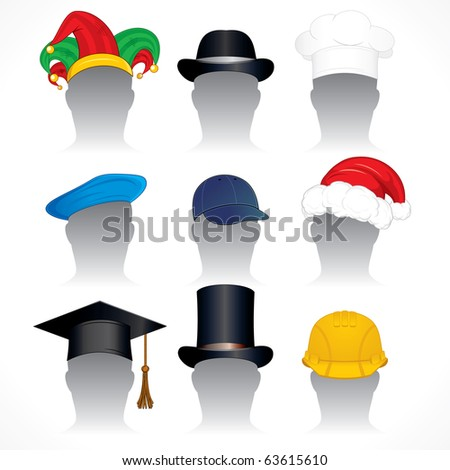 81f5c8627e637 Royalty Free Stock Illustration of Hats Illustrations Various Hats ...