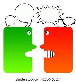 having an aggressive mindset versus an assertive one