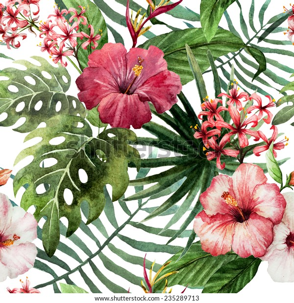 Hawaii, background, watercolor