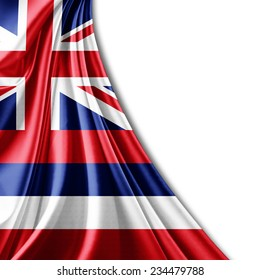 Hawaii flag and white background