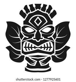 Hawaii god idol icon. Simple illustration of hawaii god idol icon for web design isolated on white background