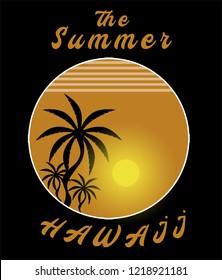 hawaii summer the  palm sun backraund